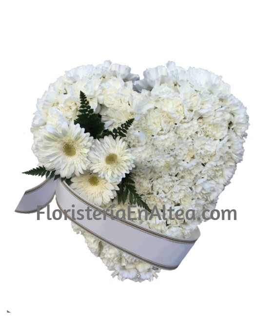 Corazón Funerario Claveles