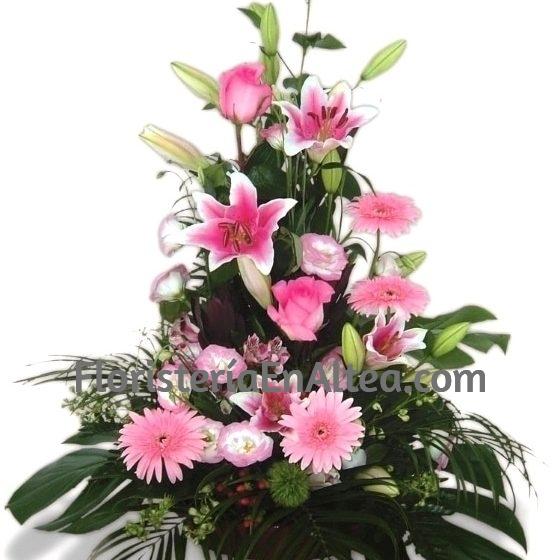 Centro de Flores Rosas en altura