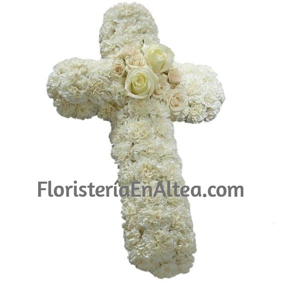 Cruz Funeraria Blanca